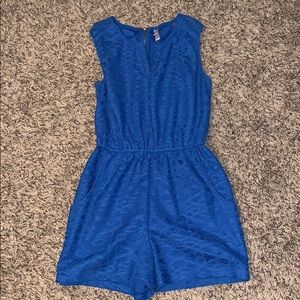 Blue lace romper!!